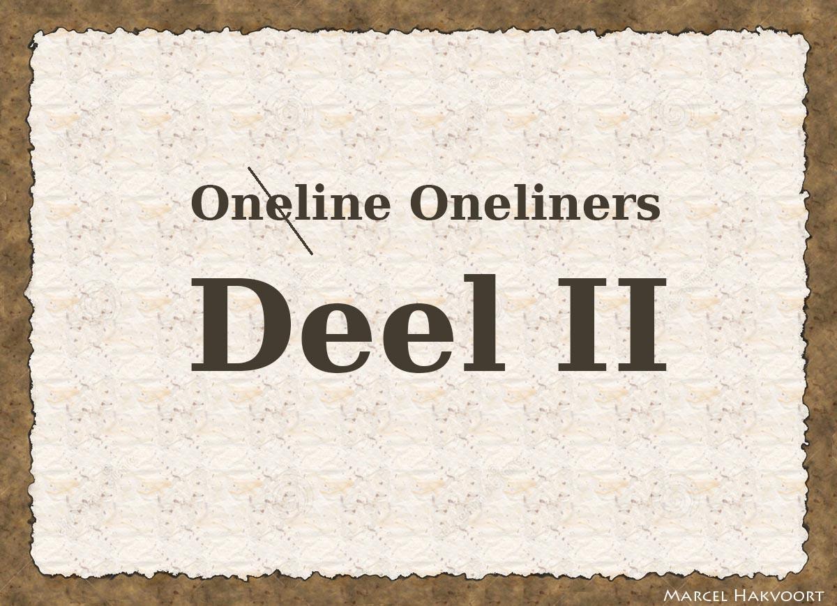Online Oneliners (Deel 2)