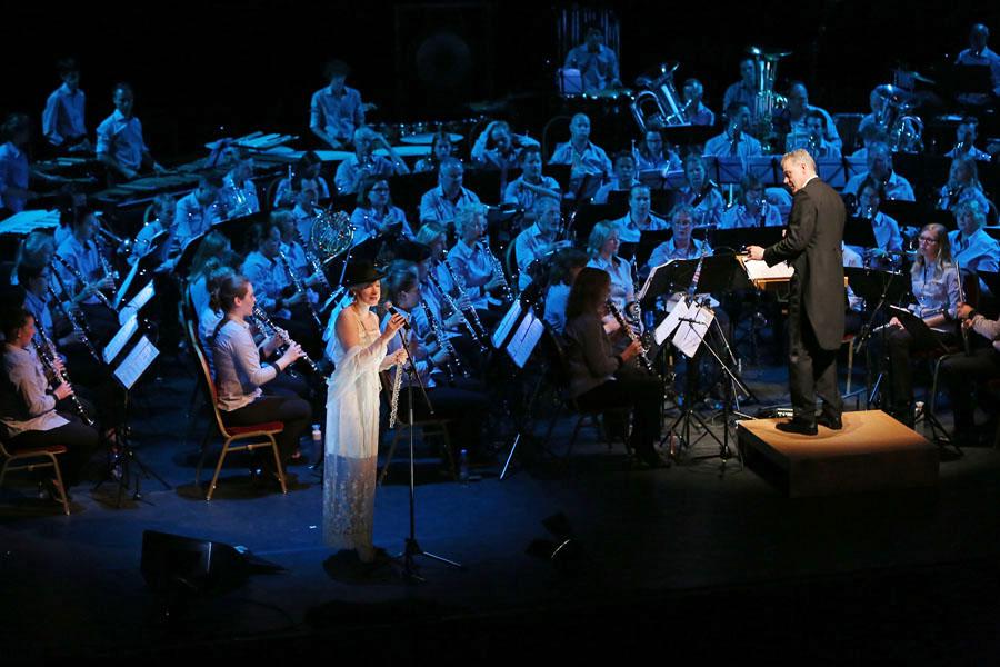 Brel & Brass - Harmonie en Tamboerkorps Semper Unitas Sambeek / Micheline Van Hautem / Jos Jansen Music @ Schouwburg Cuijk.