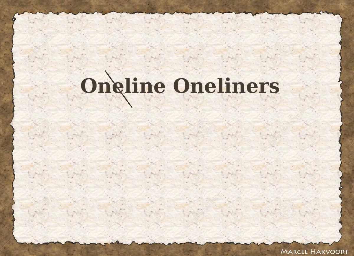 Online Oneliners